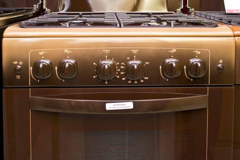 Газовая плита Gefest 6100-02 0001 (6100-02 К) - панель управления