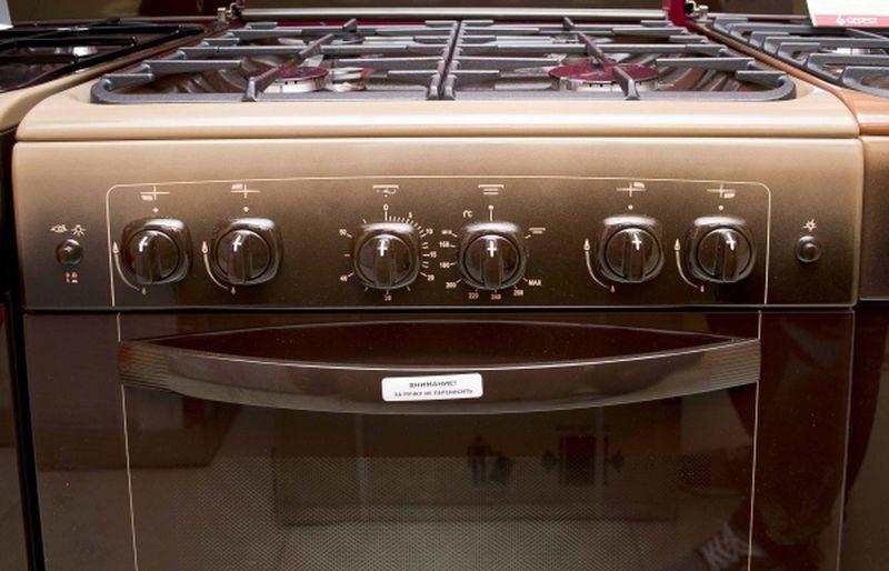 Газовая плита Gefest 6100-02 0003 (6100-02 СК) - панель управления