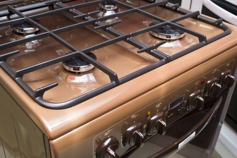 Газоэлектрическая плита Gefest 6102-03 0001 (6102-03 К) - конфорки
