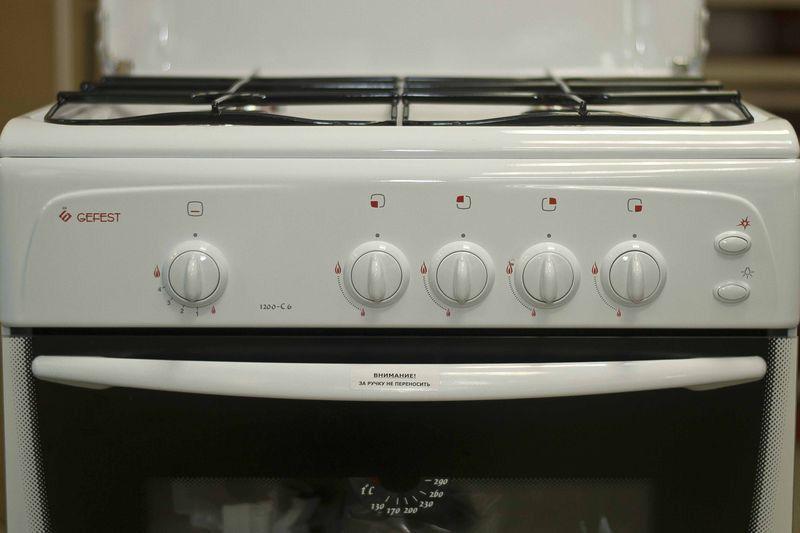 Газовая плита Gefest 1200 С6 - панель управления