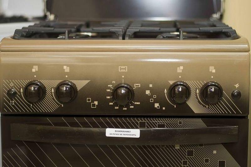 Газовая плита Gefest 5100-02 0010 (5100-02 Т2 К) - панель управления