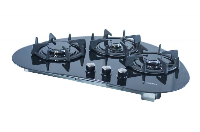3D модель: варочная панель GEFEST 2120 вид вполоборота
